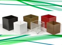 Colored Plastic Cube Vases